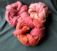 Rovings from the lobster dyepot