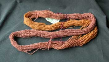 This skein was premordanted with iron.