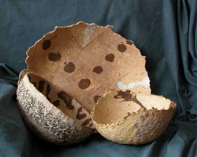 Mushroom paper bowls