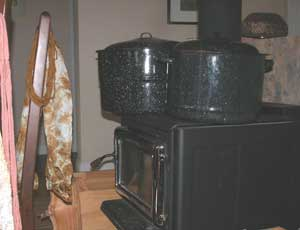 Dyepots on the stove