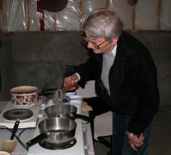 Silvia at the dyepot