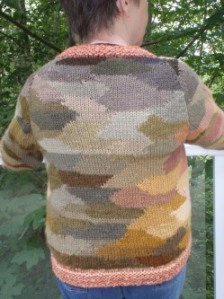 Finished sweater, back