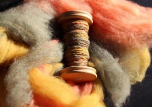 Bobbin of mushroom colours