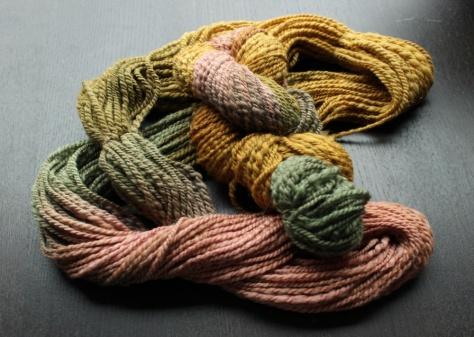 Thrice-dipped yarn
