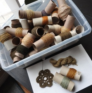 Yards and yards of silk